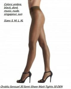 6 Pack Oroblu Tights Sensuel 30 Pure Beauty semi-sheer soft maximum comfort