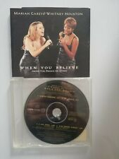 MARIAH CAREY & WITHNEY HOUSTON - WHEN YOU BELIEVE  -  4 TRACKS  CD