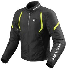 GIACCA JACKET GIUBBOTTO MOTO REV'IT REVIT JUPITER 2 H2O NERO GIALLO FLUO TG S
