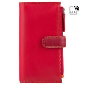 NEW Multicolour Bifold Womens Leather Ladies Purse Wallet Cards Coin Notes RFID