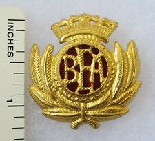 ORIGINAL 1960s Vintage BRITISH EUROPEAN AIRWAYS BEA AIRLINES HAT / CAP BADGE