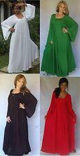 Viscose Square Neck Long Sleeve Dresses for Women