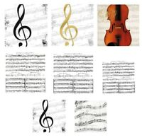 *20 Servietten*Serviettentechnik*Musik*Noten*Instrumente,Notenschlüssel*Violine