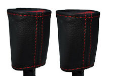 RED STITCHING 2X FRONT SEAT BELT LEATHER COVERS FITS PONTIAC GTO 2004-2006