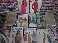 Vintage Lot 10 UNCUT Sewing Patterns Butterick Simplicity McCalls See & Sew