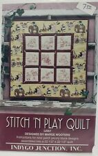 Indygo Junction Inc Redwork Stitch N Play Quilt Pattern by Marge Wooters IJ167