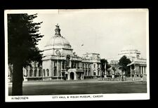 City Hall And Welsh Museum Cardiff Postcard Used In 1955 #C2576