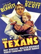 MOVIE FILM TEXANS BENNETT SCOTT WESTERN DRAMA WILD WEST USA POSTER PRINT BB6727B