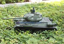 1/16 2.4G RC Henglong Smoke & Sound Russian T34-85 Tank Metal Gearbox