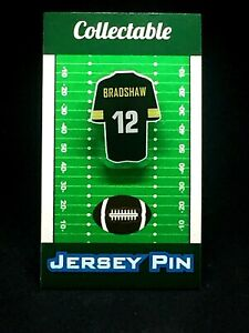 Pittsburgh Steelers Terry Bradshaw jersey lapel pin-Classic vintage Collectable