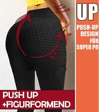 Damen Anti-Cellulite Kompression Leggins Yoga Fitness Pushup Lift Elastisch Hose