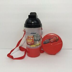 Disney Cars Snap & Sip Kids Cup & Snack Container Bowl w/ Lid Zak Designs