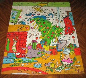 Springbok Christmas Chaos 1000 pc Jigsaw Puzzle Complete