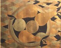 "Original Acrylic Contemporary Modern Art ""Apples And Pears""- Framed"