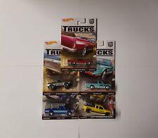 Hot Wheels TRUCKS Set 5 Modellautos 1:64, Rennautos, Für Jungen,Truck-Autos, neu