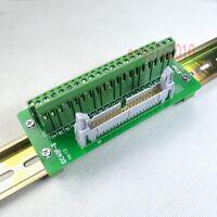 DIN Rail Mount IDC40 2x20 40 Pin 2.54mm Header Interface Module Breakout Board