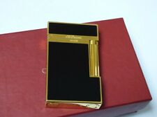 S.T. Dupont Montparnasse Lighter - Black Lacquer with Gold Plated Trim + Pouch