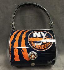 LITTLE EARTH NHL NEW YORK ISLANDERS SUPER FLARE SWAROVSI CRYSTALS METAL PURSE