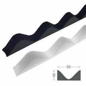 Corrugated Sheet Foam Filler Black & White Eaves Infill for Bitumen Roof Panels