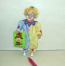 Miniature BRUNETTE Boy in CLOWN Halloween Costume and Mask (#1): DOLLHOUSE 1/12