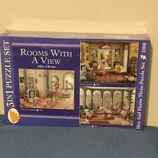 Bits and Pieces 3 In 1 Puzzle Set ROOMS WITH A VIEW 1000 Pieces ea. John O'Brien