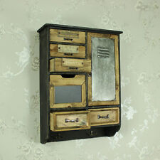 wooden industrial locker style wall cabinet cupboard storage office bedroom bath