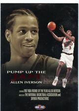 Allen Iverson 1998-99 NBA Hoops Pump up the Jam Insert Card #2 Philadelphia