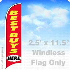 Flag Only 2.5' Windless Swooper Feather Banner Sign - Best Buys Here rb