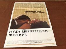1981 Rollover Original Movie House Full Sheet Poster