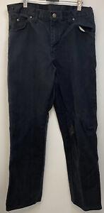 "Vintage Dickies Distressed Mens Black Carpenter Work Trousers W32 Inch/L33.5 """