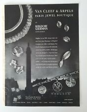 1955 Van Cleef & Arpels Paris Jewel Boutique vintage jewelry ad