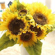 Nice Artificial Silk Flower Sunflower Bouquet Simulation Wedding Garden Decor UK
