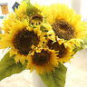 Künstliche Seide Blume gelb Sonnenblume Bouquet Simulation Hochzeit Garten-Dekor