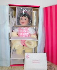 "New Marie Osmond ""Baby Steps"" Porcelain Doll by Charisma w/ COA C24081 283/2000"