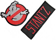 GHOSTBUSTERS No-Ghost Logo and STANTZ Name Set of 2 Iron On/Sew On PATCHES