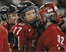 Auto. Cassie Campbell Team Canada 2002 Salt Lake Olympics 8x10 #3 Womens Hockey