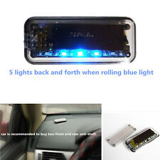 Fake Simulated Solar 6-Blue Red LEDs Light Car Alarm Security Flash Anti-Theft
