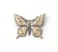 Catherine Popesco La Vie Parisienne Art Nouveau Style Enamel Butterfly Brooch