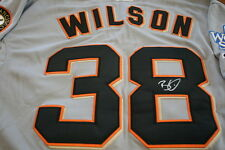 BRIAN WILSON AUTOGRAPHED SIGNED SAN FRANCISCO GIANTS 2010 WORLD SERIES JERSEY