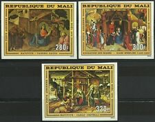 Mali Tableaux Noel Christmas Paintings Gemalde Non Denteles Imperfs Proof **1976