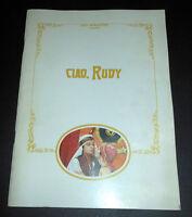 Teatro Brochure - Alberto Lionello / Trovaioli - Ciao, Rudy - 1972