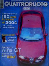Quattroruote 579 2004 Prova Alfa Romeo GT. Mercedes SL 500 TG Tronic [Q71]