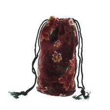 Velvet Red Flower Dolly Bag