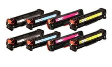 8 Pack Premium Compatible CB540A CB541A CB542A CB543A Toner Cartridges CP1215