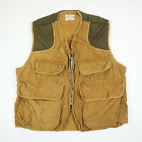 Vtg 50s 60s Pennys Foremost Padded Shoulder Canvas Hunting Vest Mens L/XL?