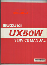 Suzuki UX50W Zillion (1999>) Official Factory Service Repair Manual UX 50 W AK44