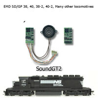 EMD GP38-2,GP40, GP40-2, GP40P-2,, SD40, SD40-2, and many more Sound GT2 decoder