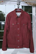 NEW KIRED Kiton Maroon SUEDE size 50 40 trucker jacket style Made in ITALY