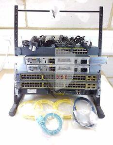 CISCO CCNA CCNP SECURITY LAB KIT 2x 1841, 1x 2960, 2x 3750, 1x ASA 4x WIC-1T