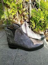 "Alexander Wang Women's ""Dewi"" Distressed Ankle Boots Chelsea Black, Sz. 9.5."